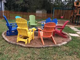 want a really fun fire pit we can help with bright and comfortable chairs