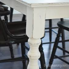 Kitchen Table Paint A Shabby Chic Farmhouse Table With Diy Chalk Paint The Diy Mommy