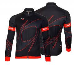 men cycling jacket original red