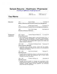 Pharmacists Resumes Cv Resume Sample Pharmacist Resume Template Retailarmacist Sample