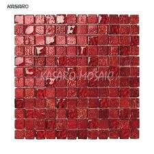 glass mix stone mosaic tiles red wall tile uk