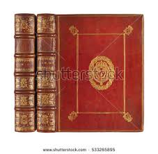 old book book cover book binding isolated vine