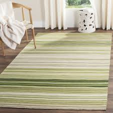 safavieh marbella collection mrb273a flat weave green wool area rug 6 x 9