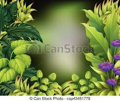 Border Design With Green Leaves Illustration