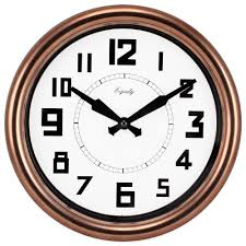 round copper og wall clock