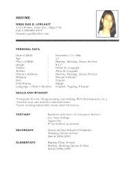 Resume Bio Template Example Simple Summary Examples Biography For