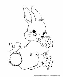 easter bunny coloring pages easter bunny flowers