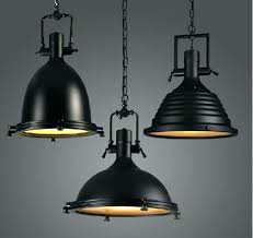 large pendant lighting large pendant lighting heavy home vintage industrial metal lamp loft black chrome light