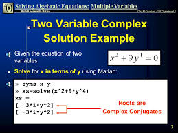 7 two variable complex solution example