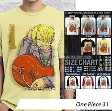One Piece Anime Size Chart One Piece 31 Bajudistro Org