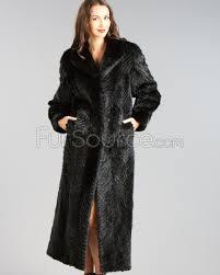 mink coat black full length chevron textured mink fur coat dschyva