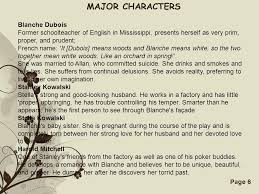 a streetcar d desire ppt video online major characters blanche dubois