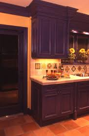 Mexican Tile Kitchen Backsplash Kitchen Mexican Tile Backsplash With Sapphire Hued Cabinetry