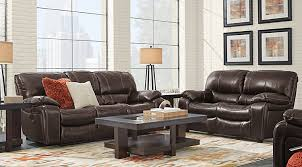 living rooms leather. sanderson walnut leather 2 pc living room rooms r