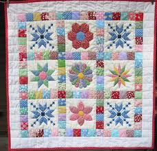 Baby Patchwork Quilt Retro baby quilt Quilted Wall Hanging ... & Baby Patchwork Quilt Retro baby quilt Quilted Wall Hanging stroller blanket  Crib Thirties Quiltsy handmade by Adamdwight.com