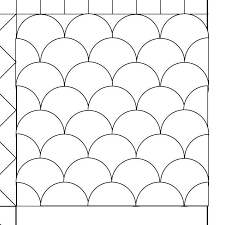 making quilting templates : Clamshell quilting pattern | Quilted ... & making quilting templates : Clamshell quilting pattern Adamdwight.com