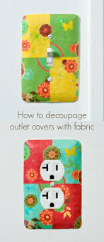 Decoupage Light Switch Plates How To Decoupage Outlet Covers And Light Switch Plates With