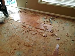 remove wood flooring