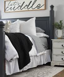 Charcoal and White Master Bedroom Reveal | Start at Home Decor