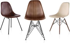 eames® molded wood side chair with wire base  hivemoderncom