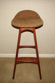 vine teak erik buch danish mid century modern bar stool by o d mobler 1 of 12