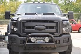 2019 F250 Smoked Cab Lights T Rex F 350 With Painted Ram Air Hood Painted Ford Emblem