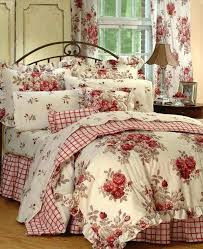 cottage bedding set roses sets shabby chic king comforter beach