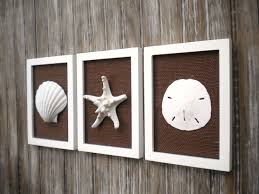 Cottage Chic Set of Beach Wall Art Bathroom Decor Beach