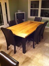 Large Diy Kitchen Table Table Top Made From Poplar Legs And
