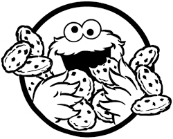 Monster clipart coloring page - Pencil and in color monster ...