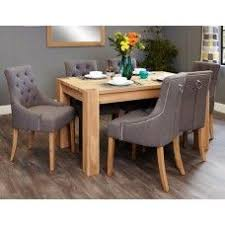 aston oak furniture 6 seater dining table upholstered chair set 6 seater dining table