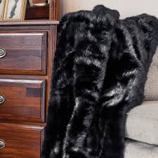 black bear  throw blanket  posh pelts  touch of modern