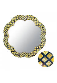 decors flor de amapola 28 andalusian fl shape framed decorative wall mirror