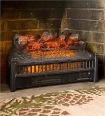 main image for electric log heater fireplace insert