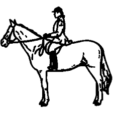 horse riding clipart black and white. Perfect Riding Horse In Riding Clipart Black And White I