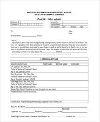 Business Account Application Free 7 Business Accounting Form Samples In Sample Example