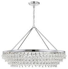 crystorama calypso 8 light crystal teardrop chrome chandelier polished chrome