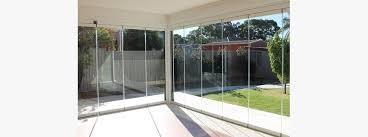 frameless glass folding doors