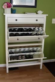 We always have shoes at the door! For entryway/closet from IKEA: HEMNES Shoe  Cabinet