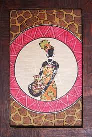 other details african jungle women is an oil paint on pasted canvas with textured wooden painting framespopular