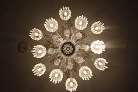 light white vintage antique flower petal interior ceiling decoration lamp electricity furniture lighting decor circle lights