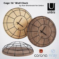 cage 16 wall clock by alan wisniewski