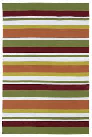 kaleen rugs orange red ivory striped rug posh reviews