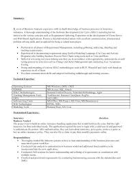 Resume For A Business Analyst Business Analyst Resumes Samples Sample Insurance Business Analyst