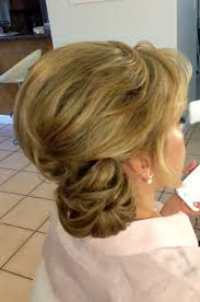 Mother Of Groom Hairstyles Mother Of The Bride Half Up Half Down Side Swept Bangs Curls