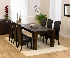 astounding dark wood dining table and 6 chairs 7607 at cozynest home