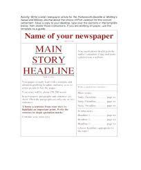 Fake Newspaper Template Word Newspaper Story Template Create A Fake Newspaper Article
