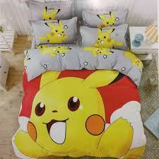 pokemon bedding set cotton bedlinen pillowcase duvet cover set for baby kids printed 3d bedding