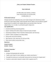 sample graphic design resume entry level graphic designer resume template  sample graphic design resume pdf