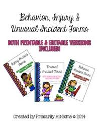 Behavioral Injury Unusual Incident Report Form Pack